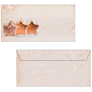 50 sigel Weihnachtsbriefumschläge Copper Glance...