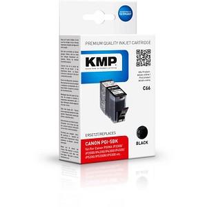 KMP C66 schwarz Tintenpatrone ersetzt Canon PGI-5 BK
