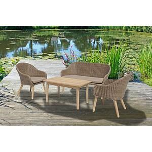 Lounge-Sessel-Set Garden Pleasure Pueblo braun