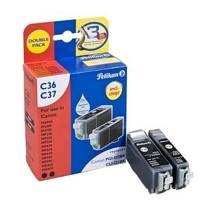 Pelikan C36/C37 schwarz Tintenpatrone ersetzt Canon PGI-520 BK, CLI-521 BK