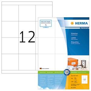 1.200 HERMA Etiketten 4279 weiß