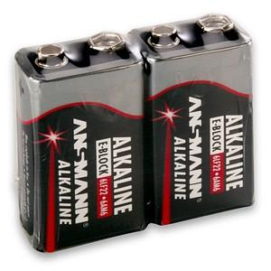 ANSMANN Batterien Red Alkaline E-Block 9,0 V