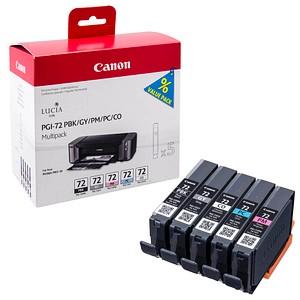 Canon PGI-72 PBK/GY/PM/PC/CO schwarz, grau, foto magenta, foto cyan, Chroma Optimizer Tintenpatronen