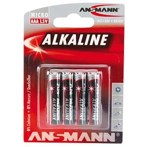 ANSMANN Batterien Red Alkaline Micro AAA 1,5 V