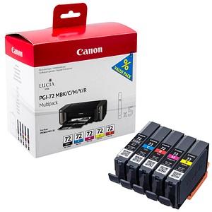 Canon PGI-72 MBK/C/M/Y/R mattschwarz, cyan, magenta, gelb, rot Tintenpatronen