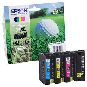 EPSON 34XL / T3476XL schwarz, cyan, magenta, gelb Tintenpatronen