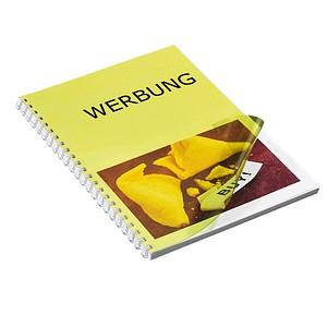 100 RENZ Deckblätter für Bindemappen gelb