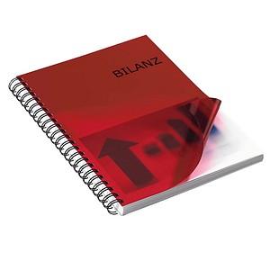 100 RENZ Deckblätter für Bindemappen rot