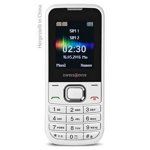 swisstone SC230 Dual-Sim-Handy weiß