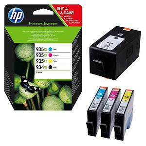 HP 934XL + 935XL (X4E14AE) schwarz, cyan, magenta, gelb Tintenpatronen