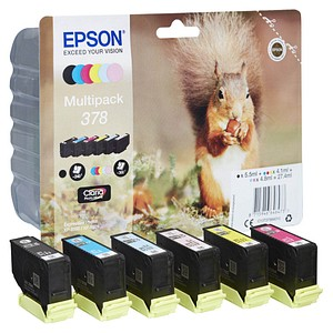 EPSON 378/T37884 schwarz, cyan, magenta, gelb, light cyan, light magenta Tintenpatronen
