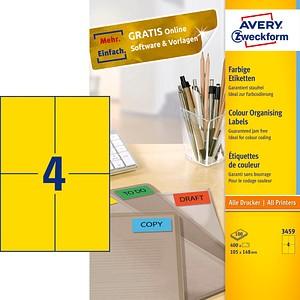 400 AVERY Zweckform Etiketten 3459 gelb