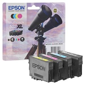 EPSON 502XL/T02W64 schwarz, cyan, magenta, gelb Tintenpatronen