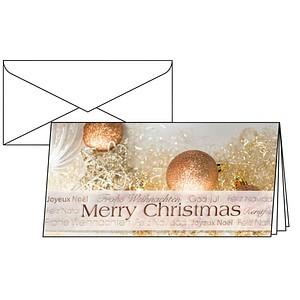 10 sigel Weihnachtskarten Christmas Glitter