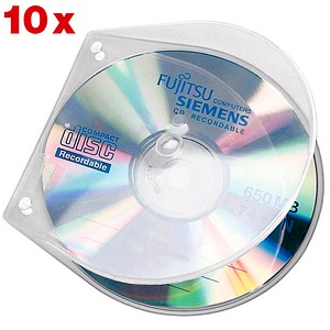 VELOFLEX VELOBOX CD-/DVD-Hüllen transparent