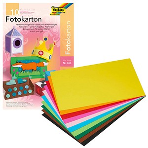 folia Fotokarton farbsortiert 22 x 33 300 g/qm