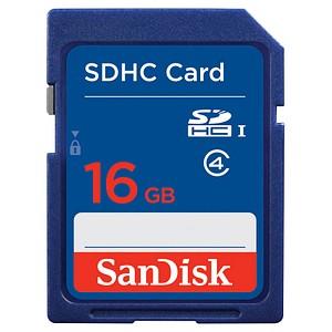 SanDisk Speicherkarte SDHC-Card 16 GB