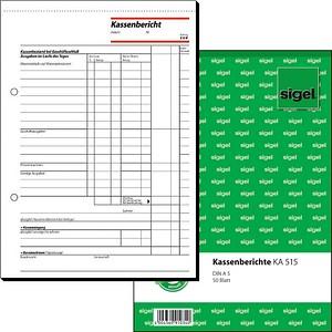 sigel Formularbuch KA515 Kassenbericht