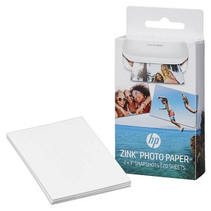 20 Blatt HP ZINK® weiß Fotopapier