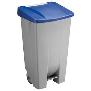 Mülleimer 120,0 l grau, blau