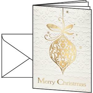 10 sigel Weihnachtskarten Golden Fantasy