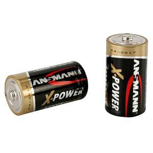 2 ANSMANN Batterien X-POWER Baby C 1,5 V